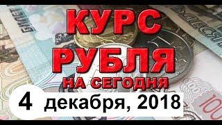 Смотреть видео Курс доллара на сегодня, курс рубля на сегодня (обзор от 4 декабря 2018 года) онлайн