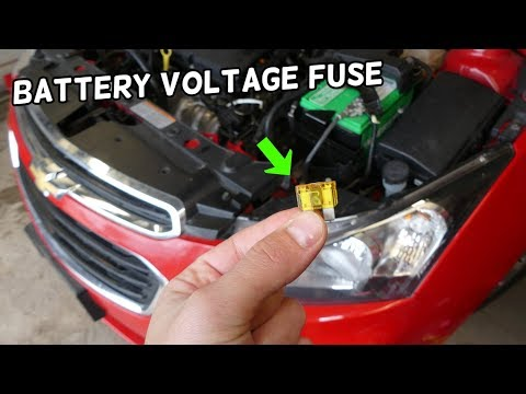 CHEVROLET CRUZE BATTERY VOLTAGE SENSOR FUSE LOCATION REPLACEMENT.