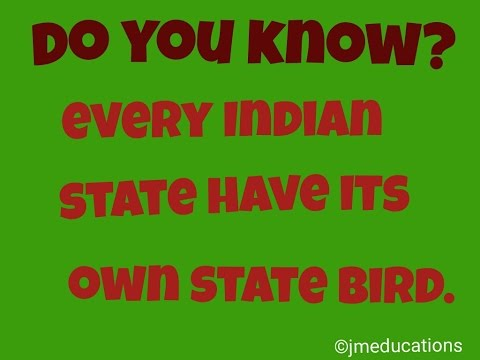 Indian State Birds Part 1