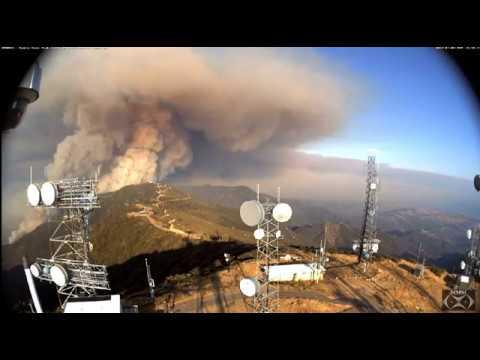 """Whittier Fire July 8, 17 """"Seen from Santa Ynez Peak"""""""