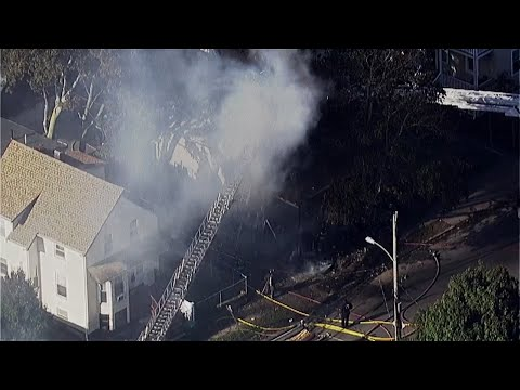 Firefighters Respond To Large House Fire In Lynn