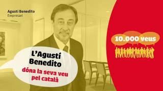 Agustí Benedito dóna la seva veu pel català!