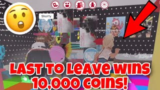 LAST TO LEAVE MEEPCITY HOUSE WINS 10,000 COINS!