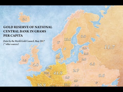 Map of Gold: Grams/Citizen In Europe, Kyrgyzstan Bank: BUY GOLD