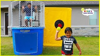 Dunk Tank Challenge Game Family Fun Activities with Ryan, Daddy, and Mommy!!!