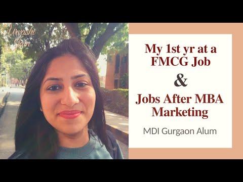 Job options after MBA in Marketing | Top 20 B Schools | MDI Gaurgaon Alum