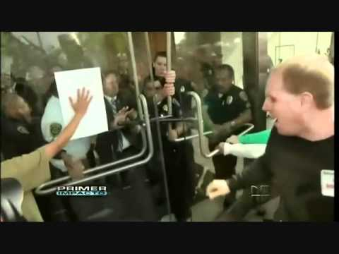Glass Door Shattering - CSU Board of Trustees - 11-16-11