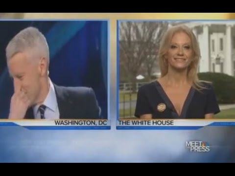 Anderson Cooper LAUGHS In Kellyanne Conway's Face During Interview