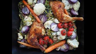 Co na obiad: Pieczone udka kurczaka z warzywami