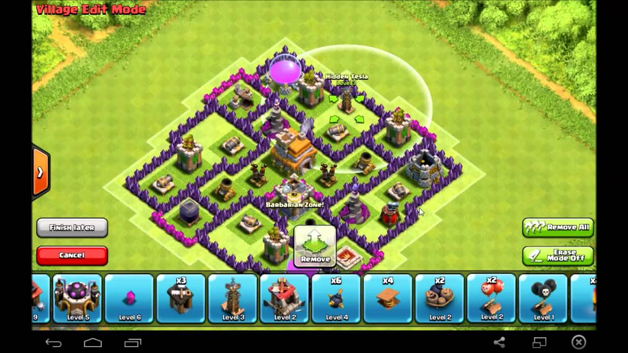 Clash of clans best th7 trophy base gold crystal league base