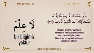 KUR'AN-I KERİM KELİME MEALİ 5. SAYFA   BAKARA SURESİ 30 - 37 (1.CÜZ)