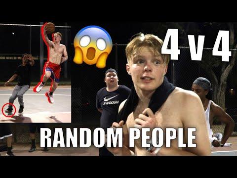 PLAYING 4v4 AT RANDOM BBALL PARK!!