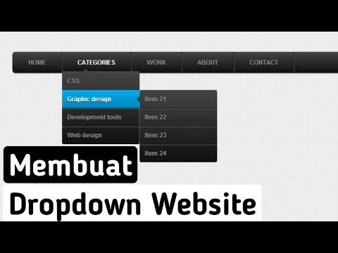 Cara Membuat Menu Dropdown Di HTML & CSS