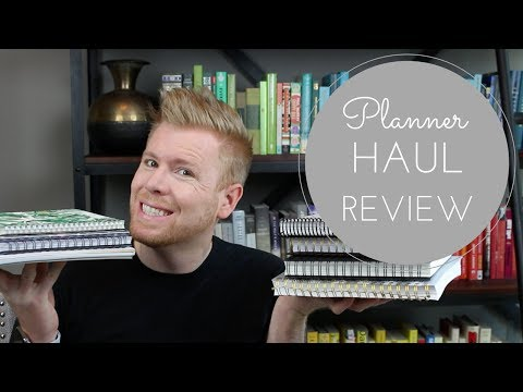 Planner Haul Review ft. Happiness Planner, Erin Condren, Get To Work, Day Designer and More!