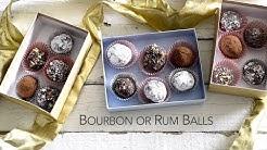Chocolate Bourbon or Rum Balls - Happy Holidays!