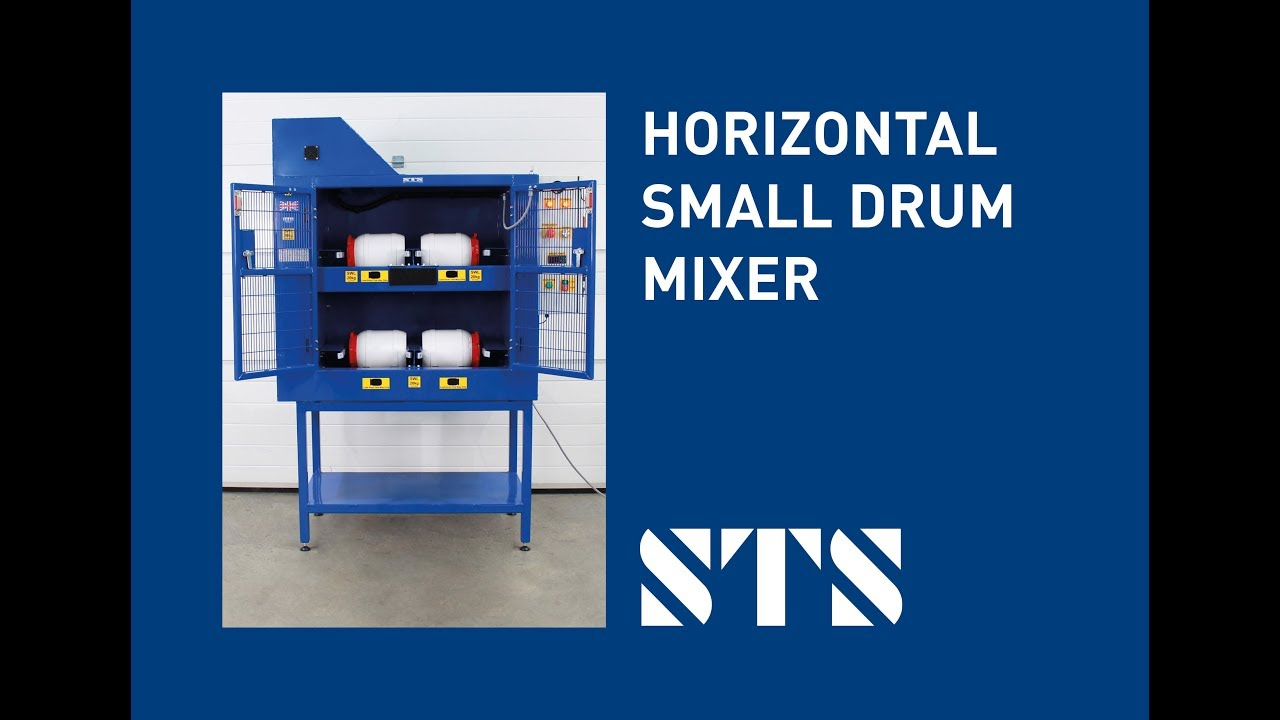Horizontal Small Drum Mixer-Four Drums: 3.6 to 15 Litres (Model: DME04)