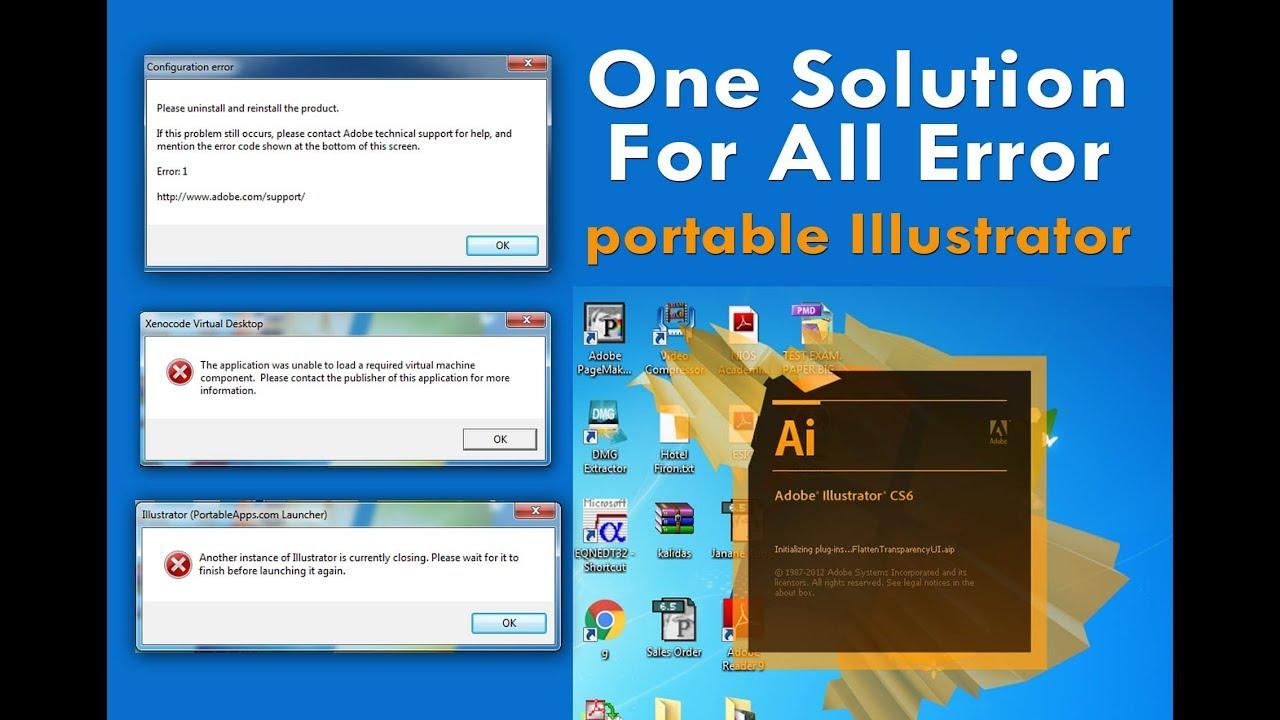 adobe illustrator error 1 mac