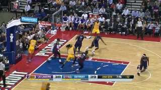 Los Angeles Lakers vs Detroit Pistons 2013.11.29