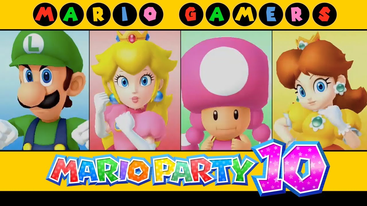 Mario Party 10 - Whimsical Waters (Luigi, Peach, Toadette ...