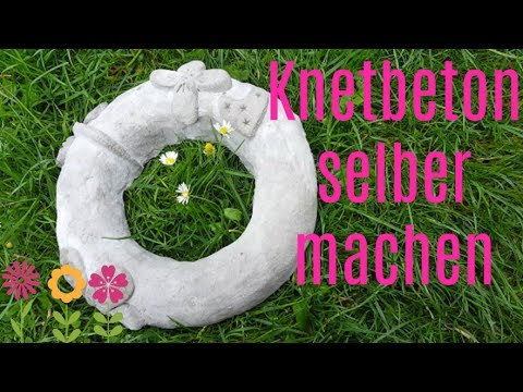 diy knetbeton selber machen dekoideen gartendeko selber. Black Bedroom Furniture Sets. Home Design Ideas