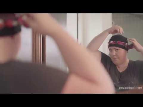 Nombreuses façons de porter un foulard sur un bonnet de chimio IÃSO