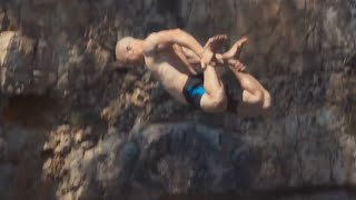 Extreme Cliff Jumping & Giant Rope Swing | PEOPLE ARE AWESOME 2016