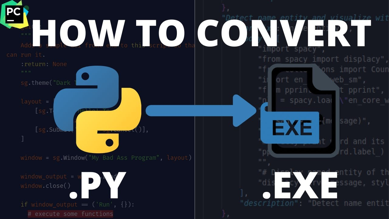 How to Convert any Python File to .EXE
