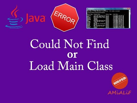 could not find or load main class java cmd error : [SOLVED] - YouTube