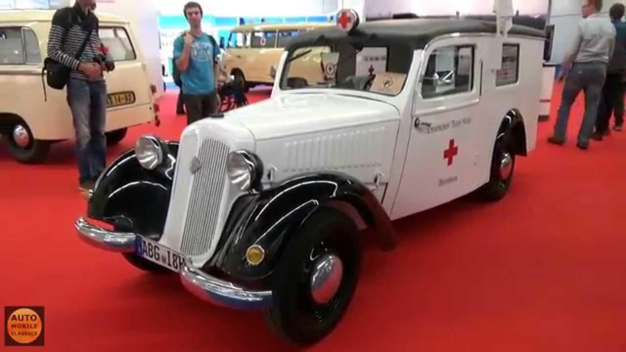 1953 ifa f8 krankenwagen iaa frankfurt 2015 youtube. Black Bedroom Furniture Sets. Home Design Ideas