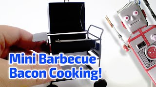 COOKING BACON IN MINIATURE! Working Miniature Barbecue!