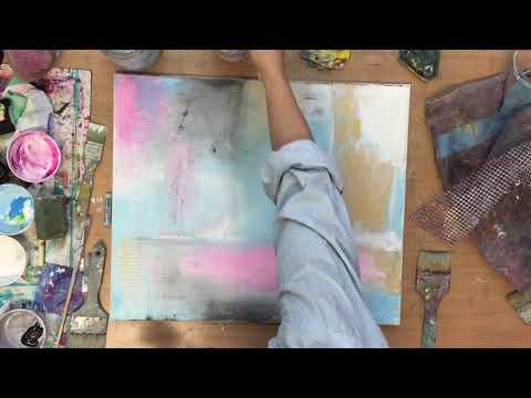Abstraktes Bild, in Acryl, Anleitung, Tutorial, Malerei Kunst