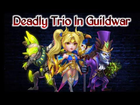 Deadly Trio   Asura/Dove/Walla   3 Hero Enough 😎   Guildwar   Vs No.1&2 Guild   Castle Clash