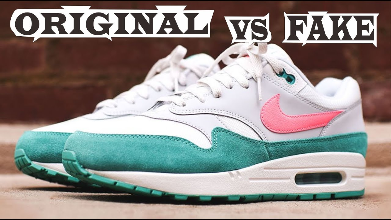 06521400bf3 Nike Air Max 1 Pink Green Original & Fake