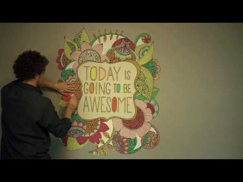 Flower Quote Art Wall Sticker Decal – Today Is Going To Be