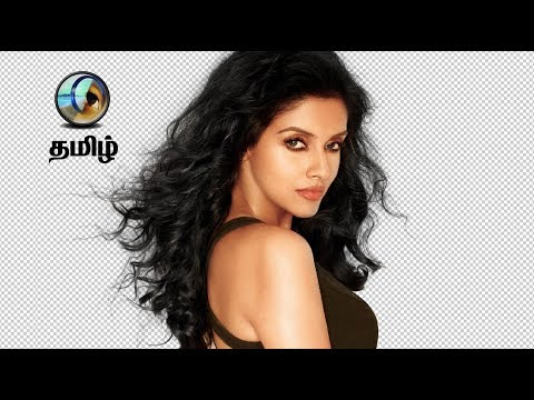 How To Cut Out Hair In Photoshop Tutorial Tamil Youtube