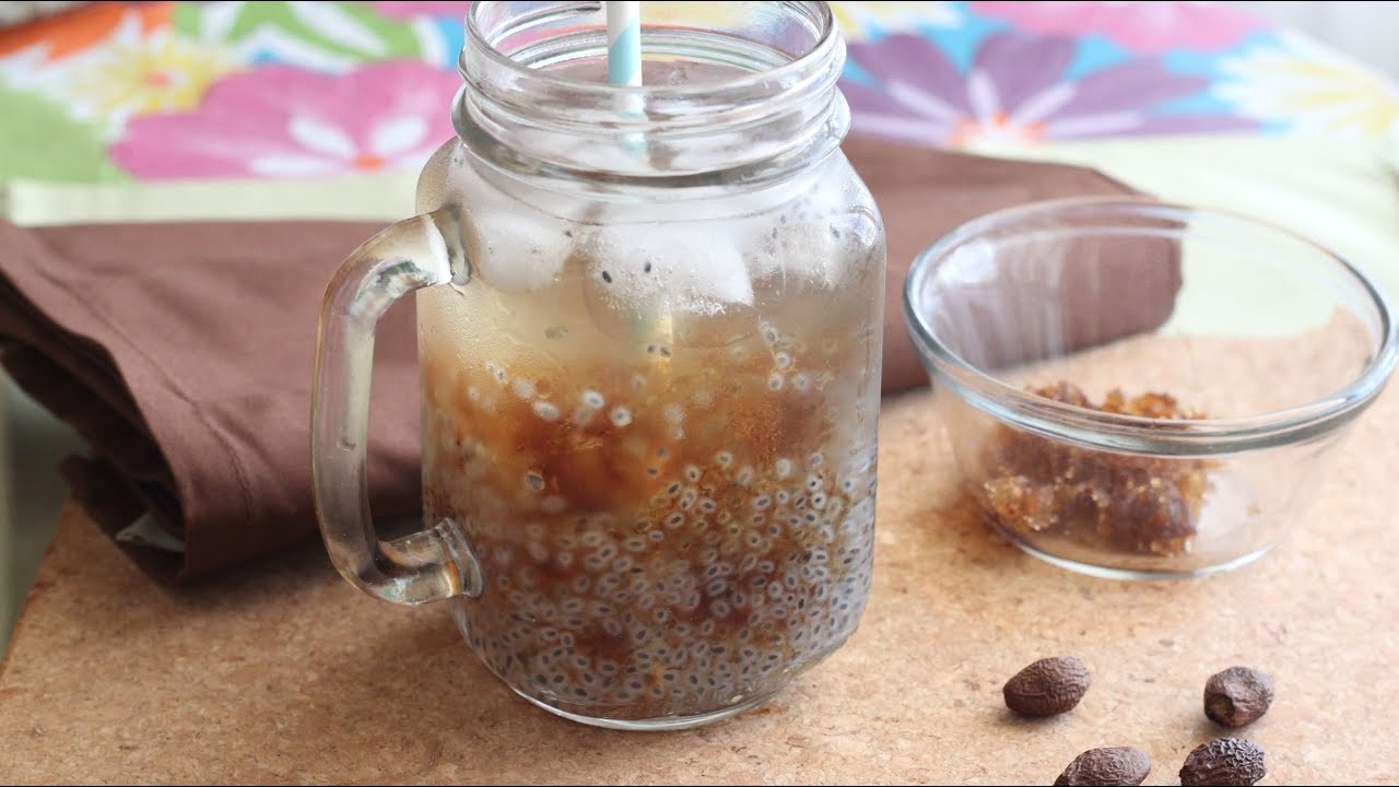 Nuoc Hot E Duoi Uoi Thai Basil Seed Drink With Malva Nut