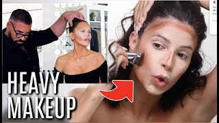 I TRIED FOLLOWING A SCOTT BARNES & TATI MAKEUP TUTORIAL | JLO MAKEUP