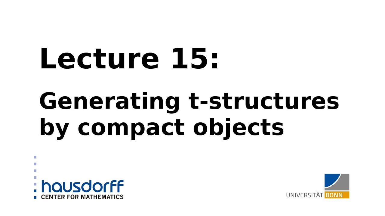 Global Homotopy Theory    Lecture 15  Generating T