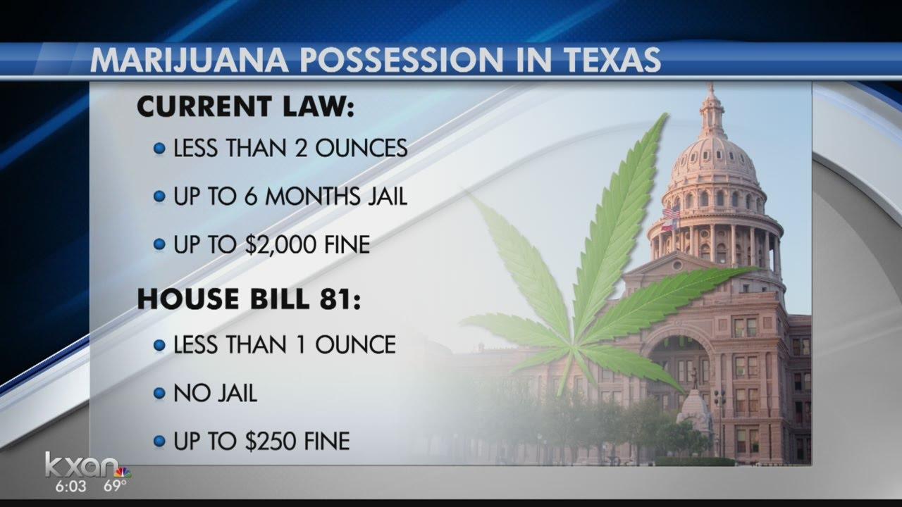 Texas considered decriminalizing possession and use of small amounts of  marijuana