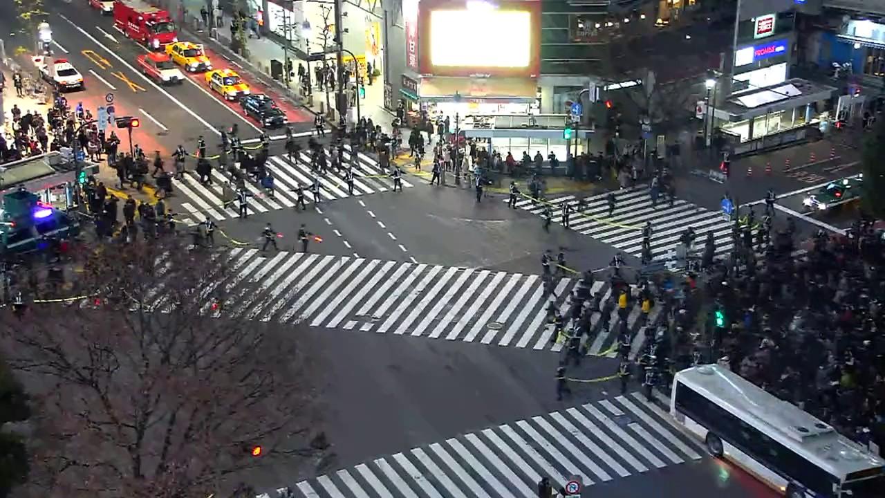 LIVE CAMERA】渋谷スクランブル交差点 ライブ映像 - YouTube