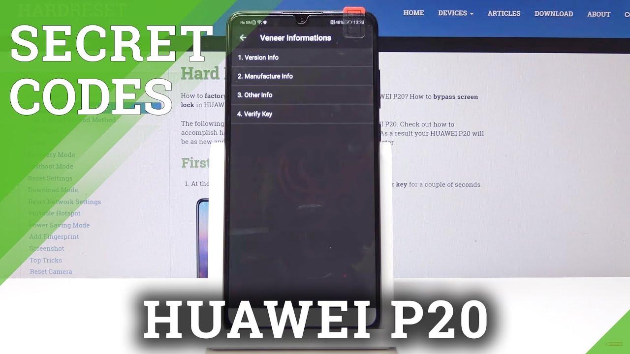 Codes HUAWEI P20 - HardReset info