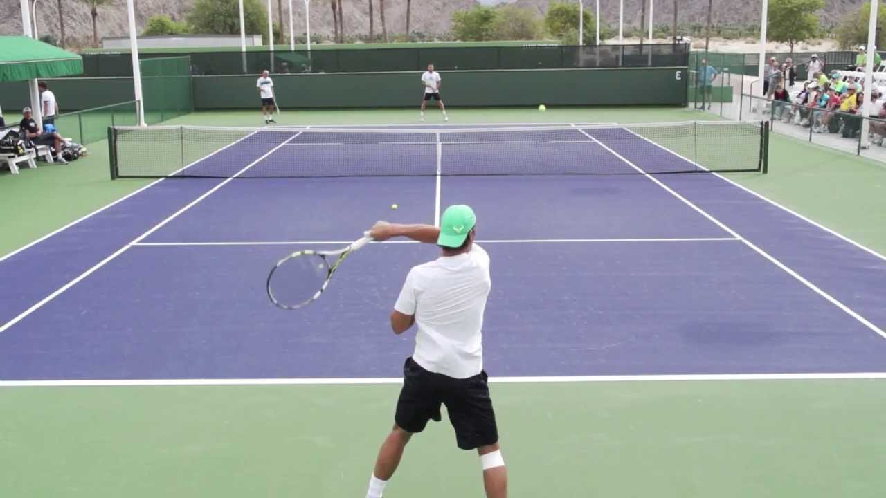 Rafael Nadal Forehand In Slow Motion Hd Mirrored For Right Handers Youtube