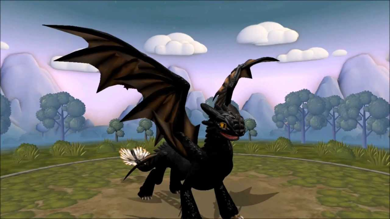 Toothless Dragon Wallpaper Hd Cute Spore Creatures Night Fury V2 Youtube