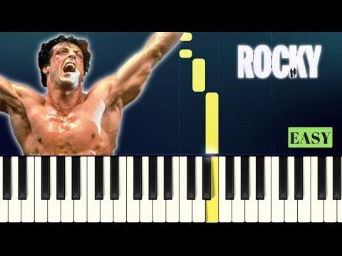 Bill Conti - ROCKY - Going the Distance - EASY PIANO TUTORIAL mp3