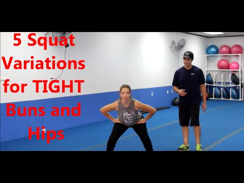 Want Tight Hips and Buns? Try These 5 Squat Variations
