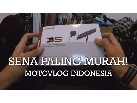 Review Sena Bluetooh Intercom Paling Murah - Sena 3S - Indonesia #motovlog 106