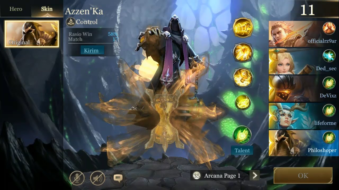 Azzenka Mvp Platinum Rank Gameplay Mobile Arena Indonesia
