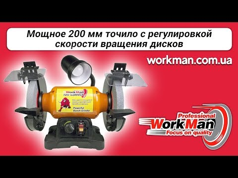 Точильный станок с регулировкой оборотов WorkMan