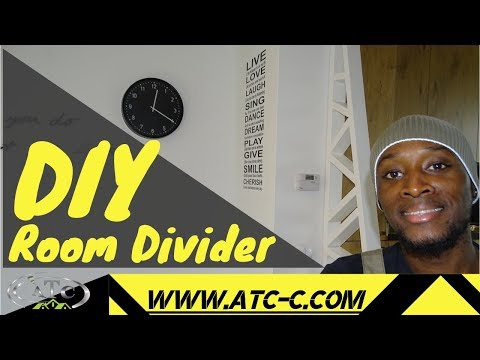 Modern Build // Create a room divider or partition wall // How to DIY