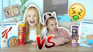 BRANDED or UNBRANDED FOOD CHALLENGE: Mia vs Sienna